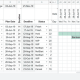 Project Gantt Chart with Google Sheet Screenshot